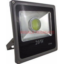 Reflector Led 20 Wat Ip 66 - Exterior - Luz Fria Con Lupa