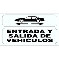 Cartel Alerta Entrada Y Salida De Vehículos O Camiones 30x40