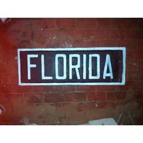 Antiguo Cartel De Hierro Ferrocarril Estacion Florida. Bifaz
