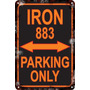 Carteles 60x40 Parking Only Harley Sportster Iron 883 Pa-10