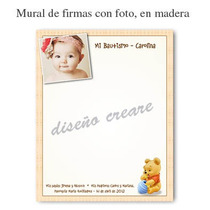 Cartel Mural De Firmas Bautismo Primer Añito Foto Beba Nena