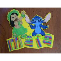Cartel Lilo Y Stitch C Tu Nombre Aviluma