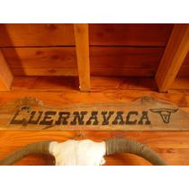 Antiguo Cartel De Cuernavaca Original Pintado A Mano 1968