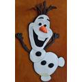 Cartel Olaf Frozen Feliz Cumple,bienvenidos Figura Goma Eva