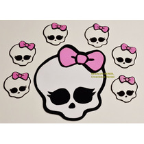 Monster High: 10 Calaveras + Cartel Pared Figuras Goma Eva