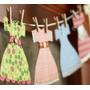 Banderines De Vestidos Hermosos! Baby Shower Cumple