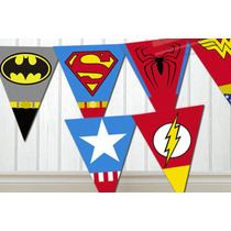 Kit Imprimible Superheroes Personalizado!