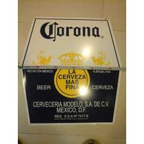 Cartel Chapa Publicidad Cerveza Corona Original Impecable