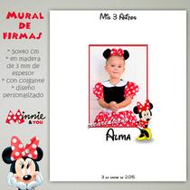 Minnie Cartel Mural De Firmas Bautismo Cumpleaños Tu Foto