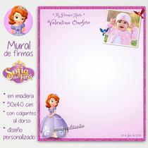 Princesita Sofia - Mural De Firmas Bautismo Cumpleaños Foto