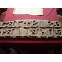 Antiguo Cartel Tallado De Carteles Tallados En Madera Dura