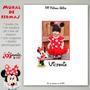 Minnie Mouse Mural De Firmas Bautismo Cumpleaños Con Foto