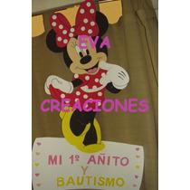 Carteles Especial Minnie En Goma Eva 80cm