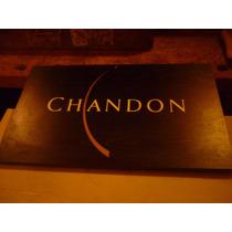 Cartel Madera Publicidad Chandon Original Con Logo