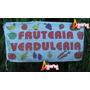 Bandera Fruteria Verduleria * 150 X 75cm * Cartel Publicidad