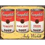 Cartel De Chapa Warhol Latas Tomato Soup L831