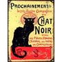 Cartel De Chapa Chat Noir L829