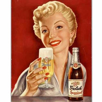 Carteles Antiguos Chapa Gruesa 20x30cm Cerveza Beer Dr-116