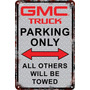 Carteles Antiguos Chapa 60x40 Parking Only Gmc Truck Pa-70