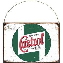 Cartel De Chapa Publicidad Antigua Logo Castrol A013