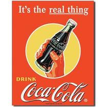Carteles Antiguos En Chapa Gruesa 20x30cm Coca Cola Dr-364