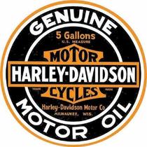 Carteles Antiguos Chapa Gruesa 50cm Harley Davidson Moto-290
