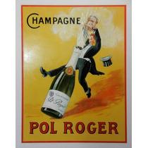 Carteles Antiguos Chapa 20x30cm James Bond Champagne Dr-191