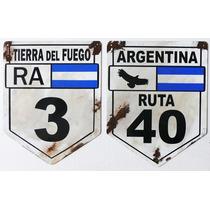 Cartel Antiguo Ruta 40 Ruta 3 Chapa Gruesa 65x50cm C-012