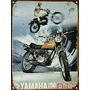 Cartel Chapa Publicidad Antigua Yamaha Enduro 250 1972 A039