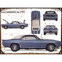 Cartel Chapa Publicidad Antigua Chevrolet Camaro 1969 A037