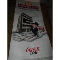 Cartel Entelado Promocional De Mcdonalds Y Coca Cola