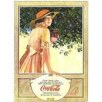 Carteles Antiguos De Chapa Gruesa 60x40cm Coca Cola Dr-349