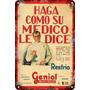 Carteles Antiguos De Chapa 20x30cm Publicidad Geniol Va-005