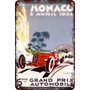 Carteles Antiguos Chapa 60x40cm Monaco Gran Prix Au-453
