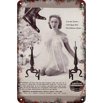 Carteles Antiguos Chapa 30x45cm Publicidad Pomada Va-011