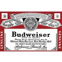 Carteles Antiguos De Chapa Gruesa 20x30cm Budweiser Dr-133