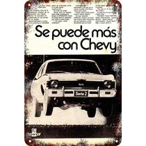 Carteles Antiguo Chapa Gruesa 60x40cm Chevrolet Chevy Au-143