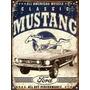 Carteles De Chapa, Publicidad Antigua Ford Mustang X209