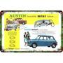Carteles Antiguos Chapa 60x40cm Austin Mini Cooper Au-674