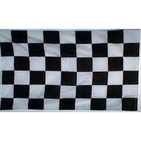 Bandera Largada A Cuadros Negra * 110 X 70 Cm