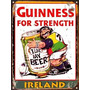 Cartel De Chapa Publicidad Antigua Cerveza Guinness L567