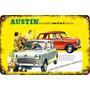 Carteles Antiguos Chapa 60x40cm Austin Mini Cooper Au-673