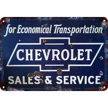 Poster Cartel Antiguo Chapa Gruesa 60x40cm Chevrolet Au-111