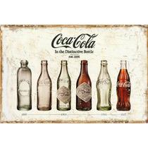 Carteles Antiguos En Chapa Gruesa 30x45cm Coca Cola Dr-017