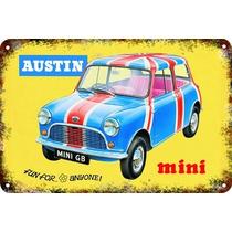 Carteles Antiguos Chapa 60x40cm Austin Mini Cooper Au-670