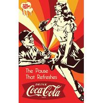 Carteles Antiguos De Chapa Gruesa 20x30cm Coca Cola Dr-239