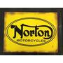 Carteles Antiguos Chapa Gruesa 60x40cm Motos Norton Mot-020