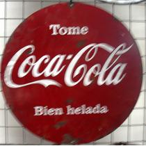 Cartel De Chapa Antiguo Coca Cola 40x40cm