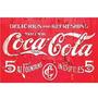 Carteles Antiguos En Chapa Gruesa 20x30cm Coca Cola Dr-363
