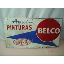 Antiguo Cartel Enlozado De Duperial /belco